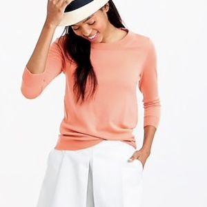 J Crew Orange Tippi Sweater Merino Wool Pullover
